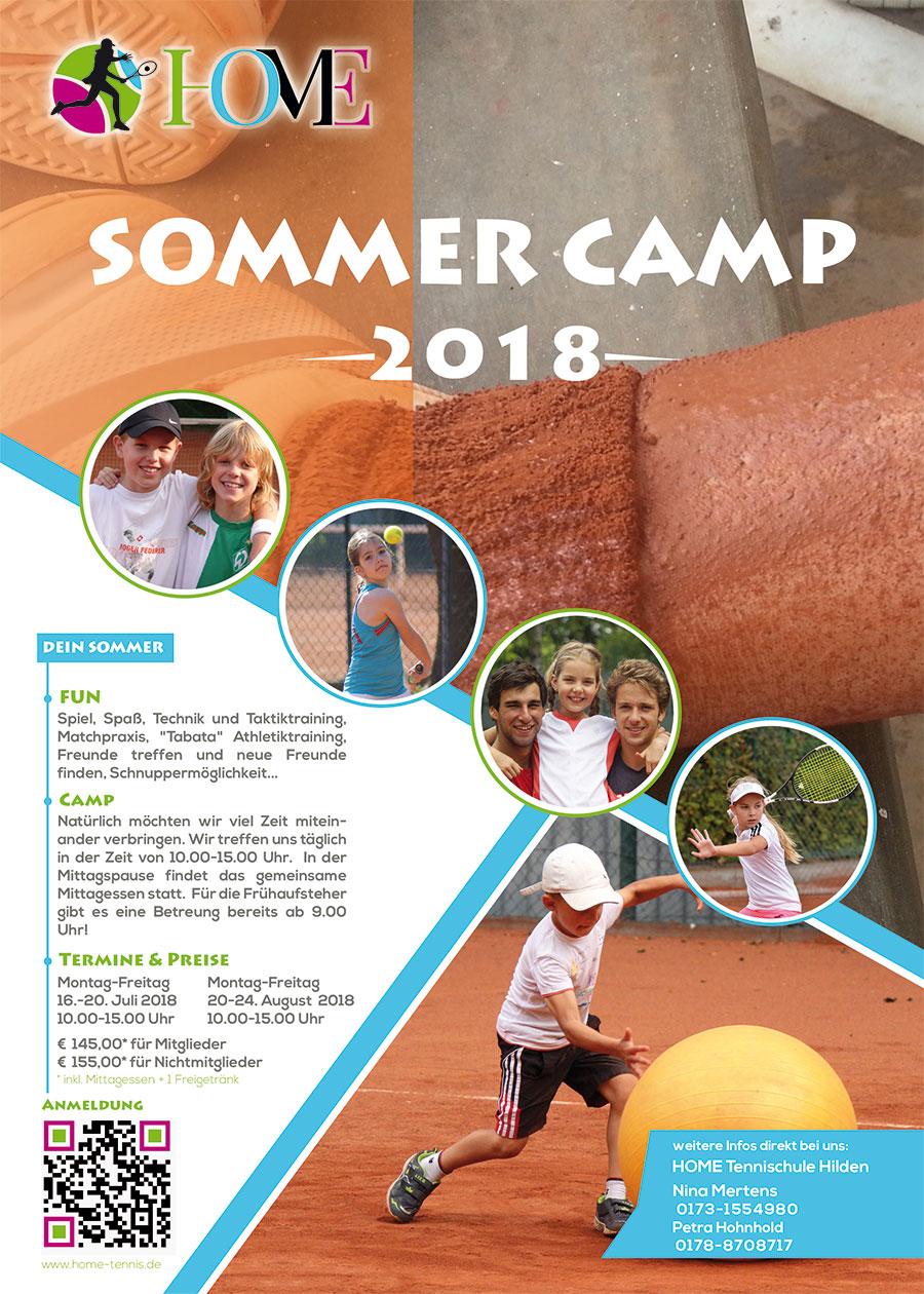 HOME Tennisschule Hilden Sommercamp 2018