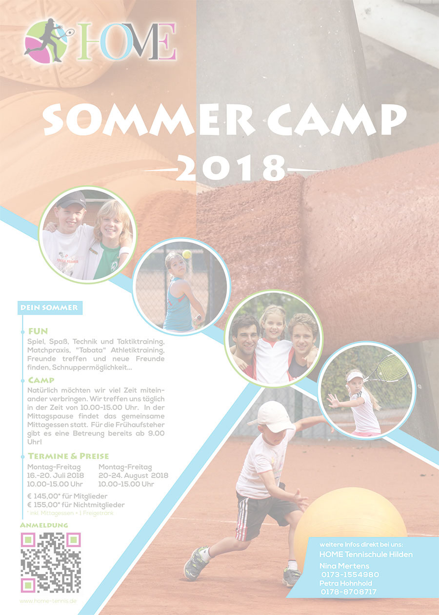 HOME Tennisschule Sommercamp 2018