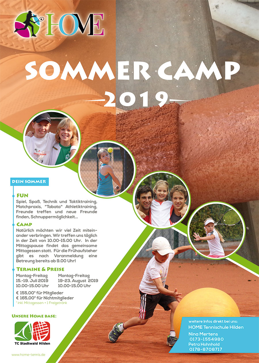HOME Tennisschule Sommercamp 2019